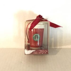 Starbucks 2005 Red Hot Cup Coffee Mini Mug Holiday